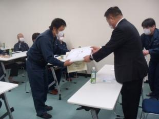 画像:現場代理人宇津宮昌一次長が特別賞を授与されました。3