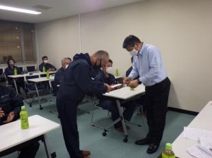 画像:令和2年9月度社内安全会議2